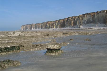 Falaises maritimes à Saint Valéry en Caux